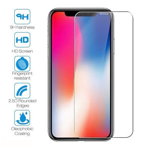 [3-Pack] Screen Protector , 9H Hardness Tempered Glass ,2.5D Round Edge , Anti-Bubbles ,Compatible With iPhone XS MAX /XR/ X/XS/8/7/6/6s/Plus