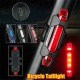 Ultra Bright Bike Light USB Rechargeable Bicycle Tail Light Red High IntensityRear LED Accessories