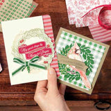 TIDINGS ALL AROUND Metal Cutting Dies Stencils for DIY Scrapbooking/photo album Decorative Embossing DIY Paper Cards