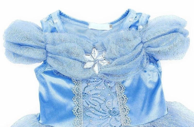 Girls Princess Cinderella Costume Halloween Party Fancy Cosplay Dress