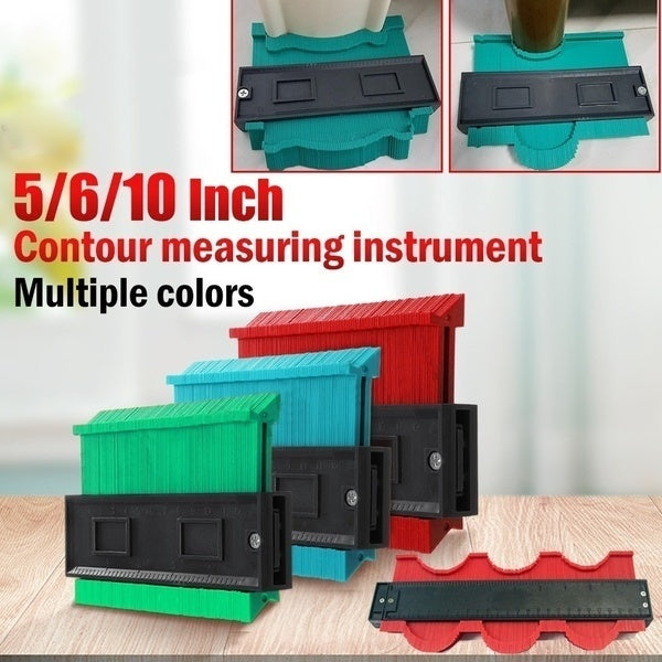 5/6/10 Inch 3D Mitre Angle Measuring Ruler Plastic Contour Gauge Duplicator Copy Irregular Shapes for Perfect Fit and Easy Cutting Profile Measuring Tool