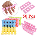 50Pcs Random Color Hot New Soft Beauty Manicure Nail Care Nail Art Tools  Sponge Foam Finger Toe Separator