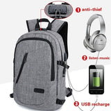 Men Women Anti-theft Charging Backpack 15.6 Inch Laptop Bag Casual Fashion Travel Bags