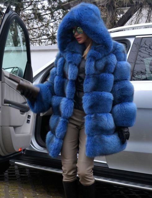 Women Winter Faux Fur Coat Cozy Jacket Open Front Hooded Thicken Coat with Pockets Pure Color Long Sleeve Warm Outwear  Overcoat Plus Size