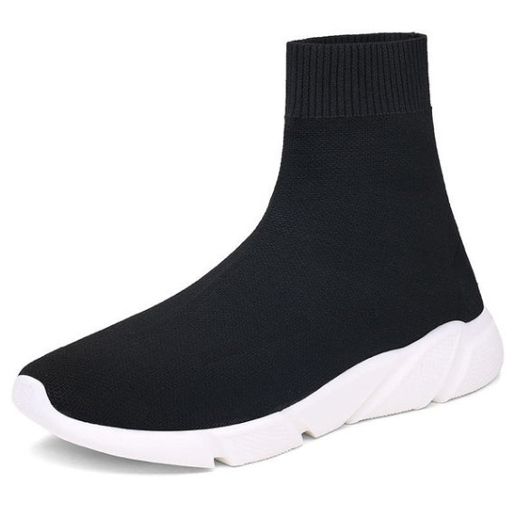 Women/Men Casual Sport High top Sock Shoes Fashion Black Soft Breathable Running Sneakers