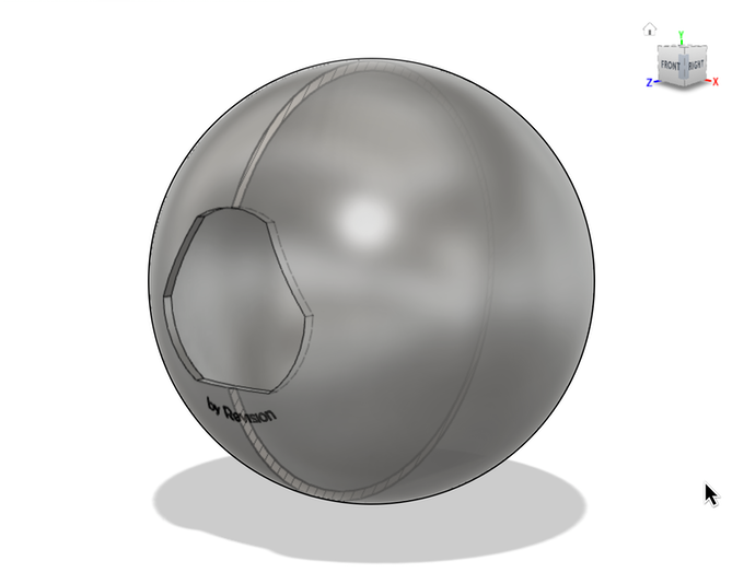 A grey CAD model on a white background depicting the Convex bottle opener.