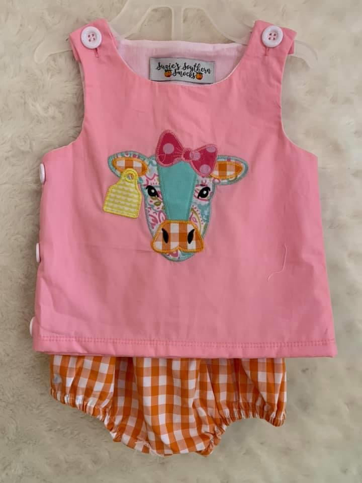 cow diaper set