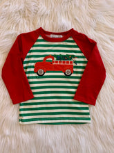 Load image into Gallery viewer, Red truck with Christmas tree