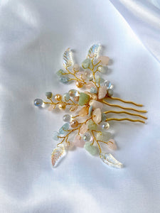Mini Hair Comb Morganite, THE LITTLE JOYS