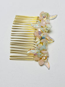 Morganite and Pearls Hair Comb PRETTY LITTLE THING