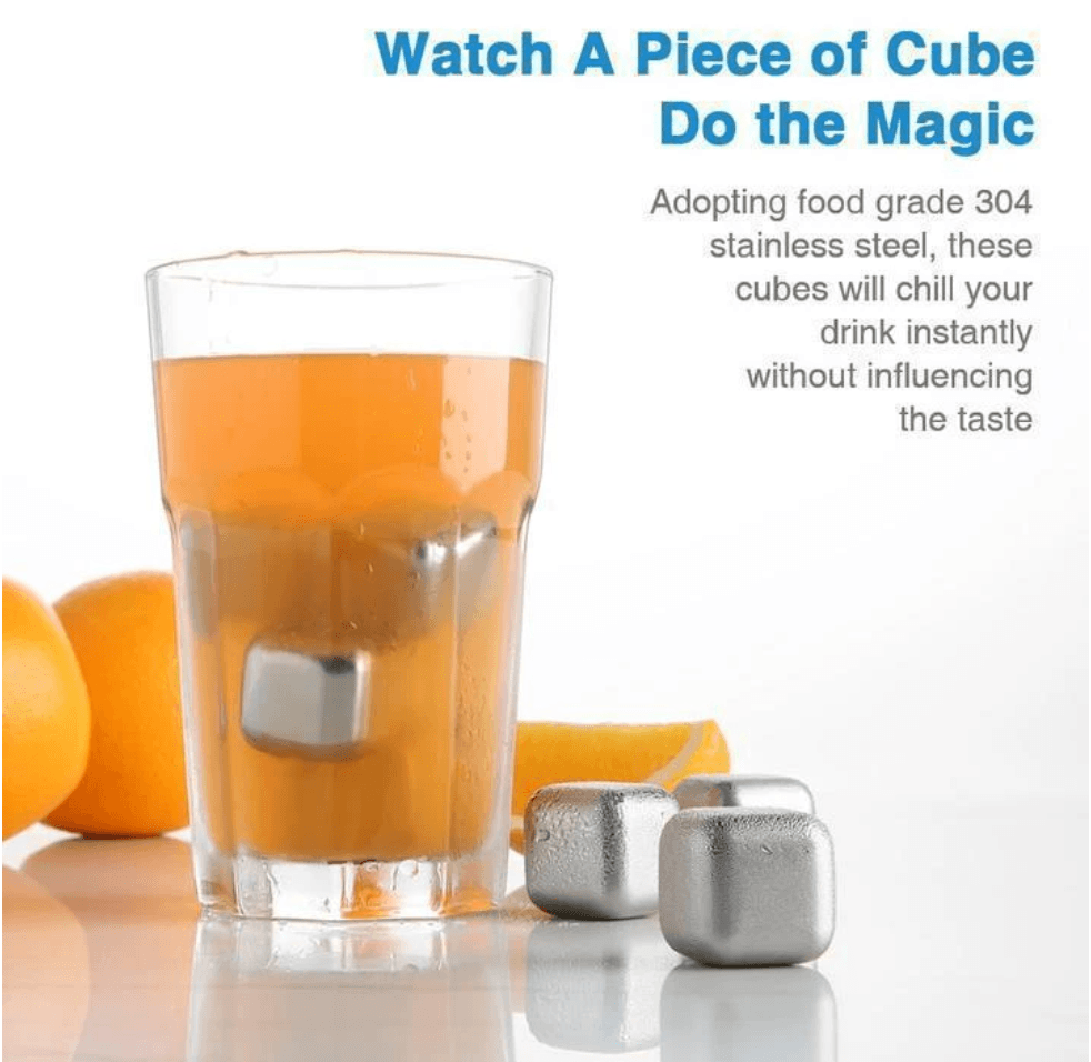 Recyclable Drink Chilling Cubes