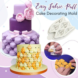 Easy Fabric Puff Silicone Cake Decorating Mold