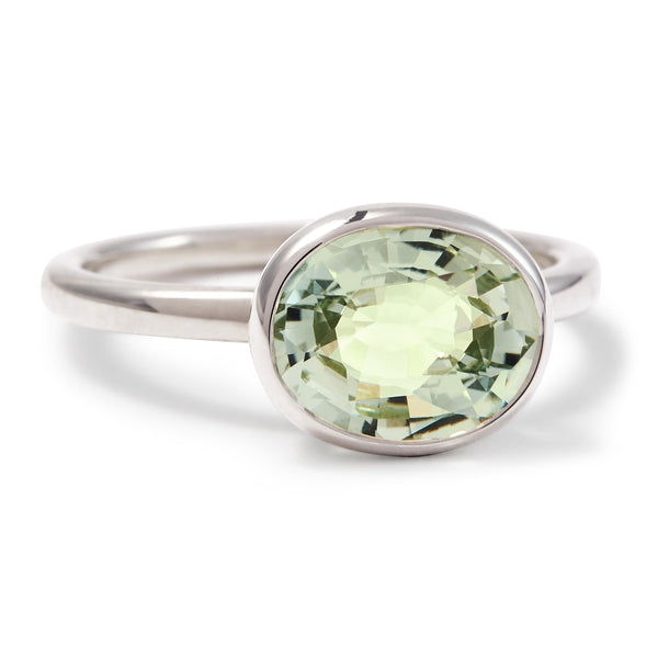 The Kate (Oval Cut Prasiolite in Silver)