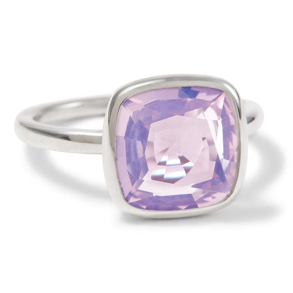 The Betty (Cushion Cut Lavender Quartz in Silver)