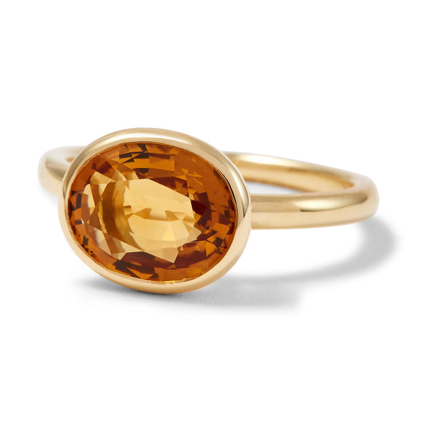The Josephine (Oval Cut Dark Citrine in 18ct Gold)