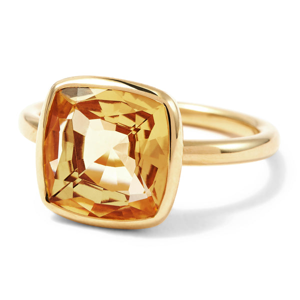 The Meena (Cushion Cut Light Citrine in 18ct Gold)