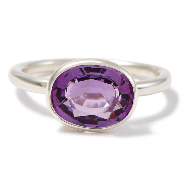 The Eva (Oval Cut Amethyst in Silver)