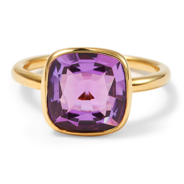 The Eva (Cushion Cut Amethyst in 18ct Gold)