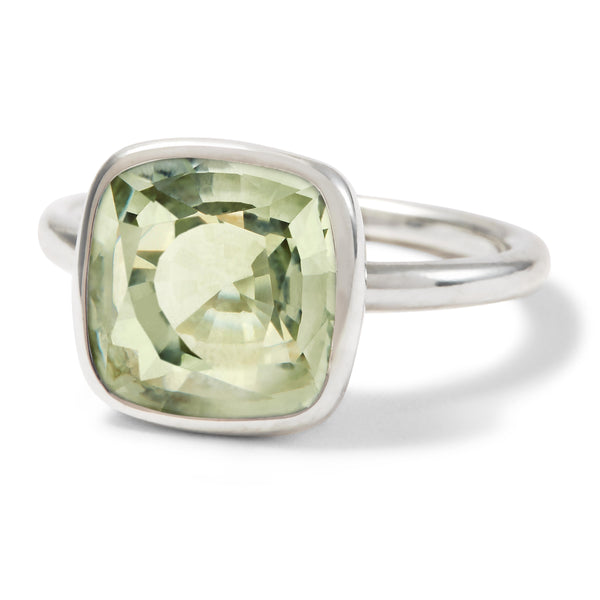 The Kate (Cushion Cut Prasiolite in Silver)