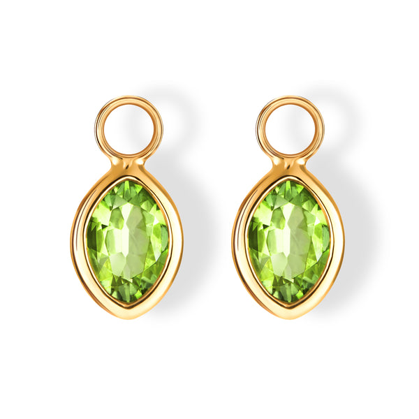 The Anderson Charms (Moval Cut Peridot in 18ct Gold)