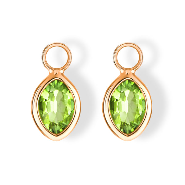 The Anderson Charms (Moval Cut Peridot in 18ct Rose Gold)