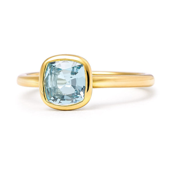 The Grace - Baby (Cushion Cut Blue Topaz in 18ct Gold)