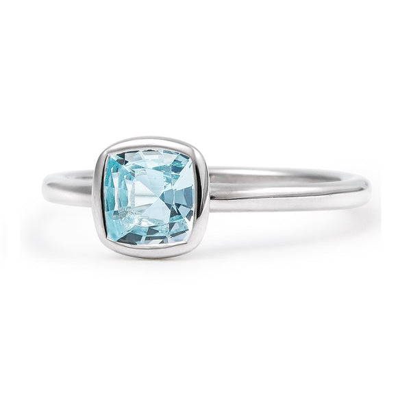 The Grace - Baby (Cushion Cut Blue Topaz in Silver)