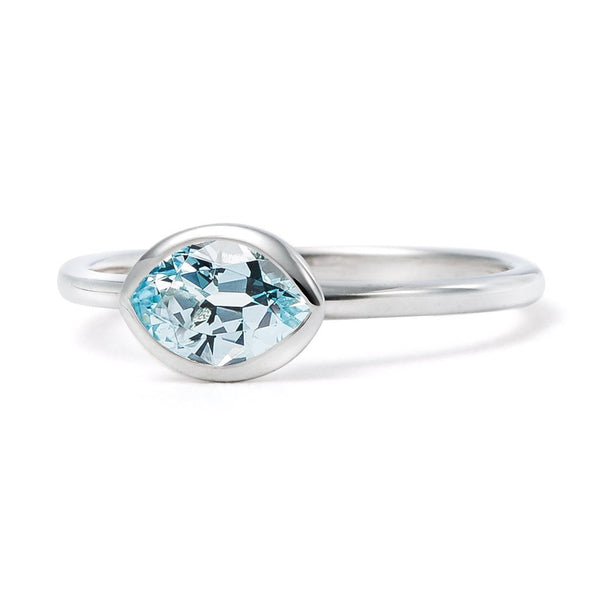 The Grace - Baby (Moval Cut Blue Topaz in Silver)