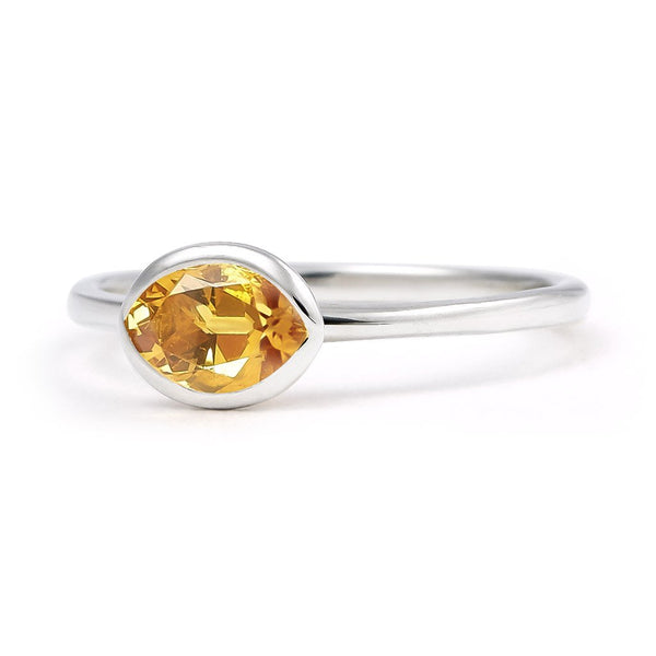 The Josephine - Baby (Moval Cut Dark Citrine in Silver)