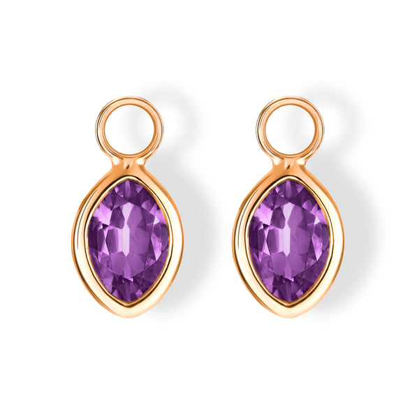 The Eva Charms (Moval Cut Amethyst in 18ct Rose Gold)