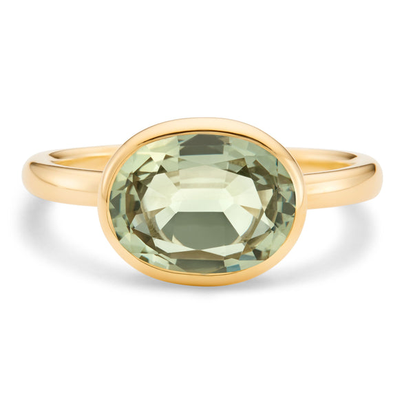 The Kate (Oval Cut Prasiolite in 18ct Gold)