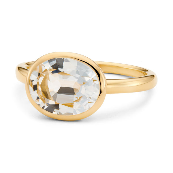 The Nicole (Oval Cut White Topaz in 18ct Gold)