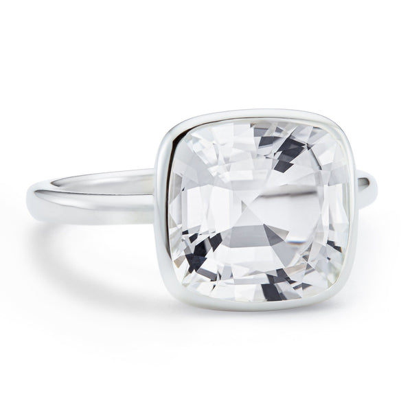 The Nicole (Cushion Cut White Topaz in Silver)