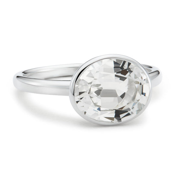 The Nicole (Oval Cut White Topaz in Silver)