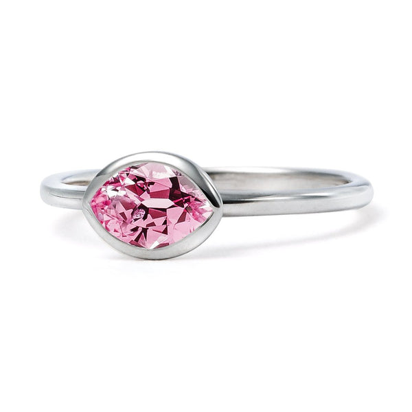 The Valentina - Baby (Moval Cut Pink Spinel in 18ct White Gold)