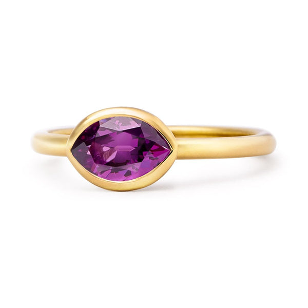 The Delilah - Baby (Moval Cut Purple Garnet in 18ct Gold)