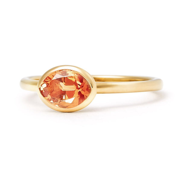 The Lula - Baby (Moval Cut Spessartine in 18ct Gold)