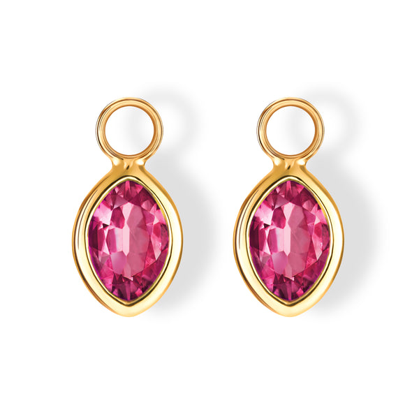The Sophie Charms (Moval Hot Pink Tourmaline in 18ct Gold)