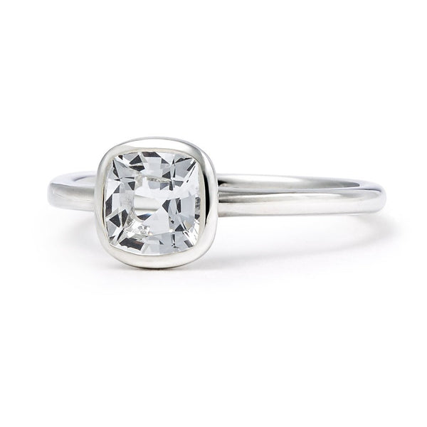 The Nicole - Baby (Cushion Cut White Beryl in Silver)