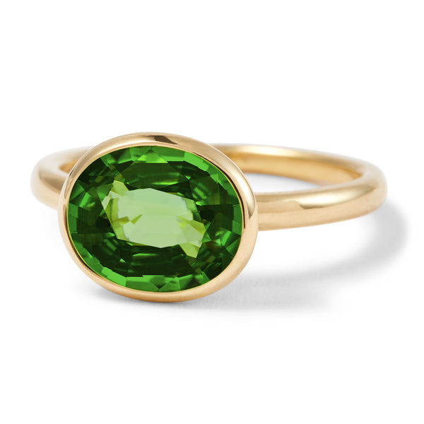 The Marlene (Oval Cut Green Tourmaline in 18ct Gold)