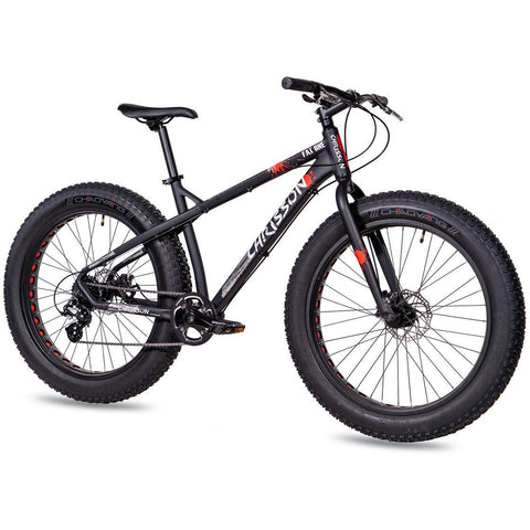 CHRISSON 26 Zoll Fat Bike FAT ONE mit 8 Gang Shimano Altus schwarz-matt