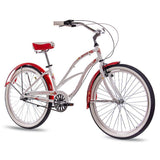 CHRISSON Beachcruiser Damenrad SANDY 3 Gang Shimano Nexus weiss rot