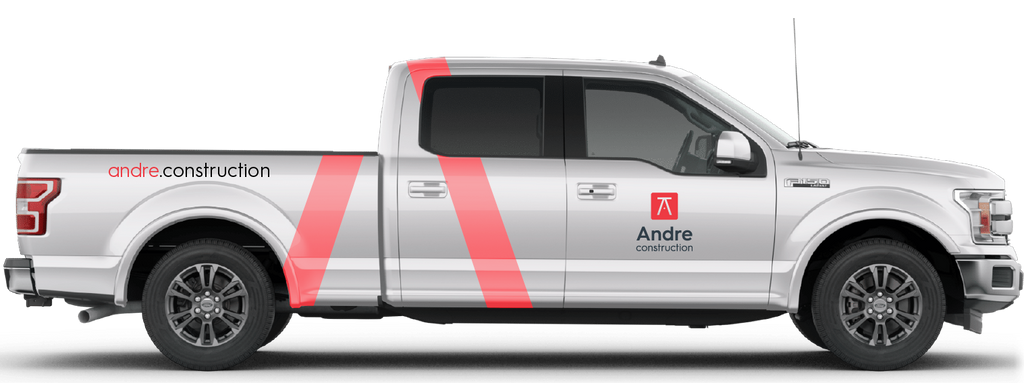 The new Andre Construction brand designed by BmDodo Strategic Design