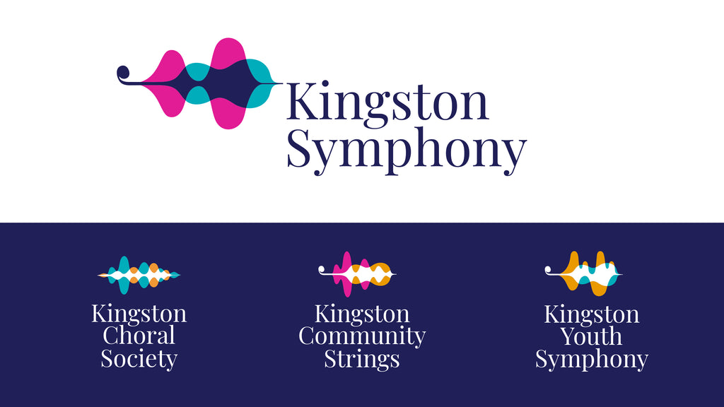 Kingston Symphony Association brand family designed by BmDodo Strategic Design