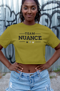 team nuance crop top