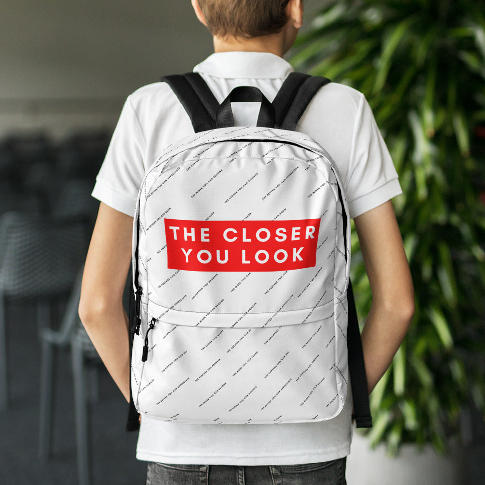the closer you look backpack