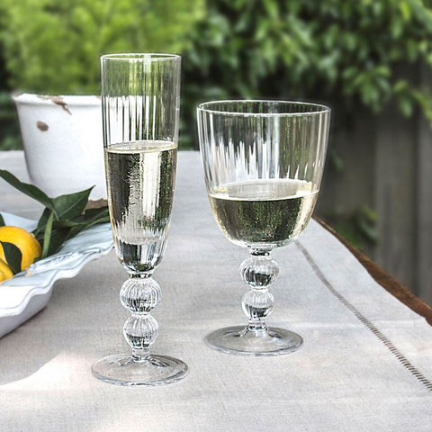 GLASS Venice Champagne Flute Clear (Set of 4)