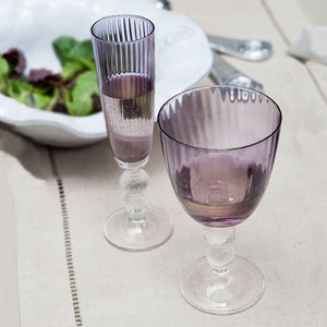 GLASS Venice Champagne Flute Purple (Set of 4)