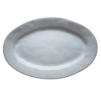 "Quotidien White Truffle 15"" Oval Platter"