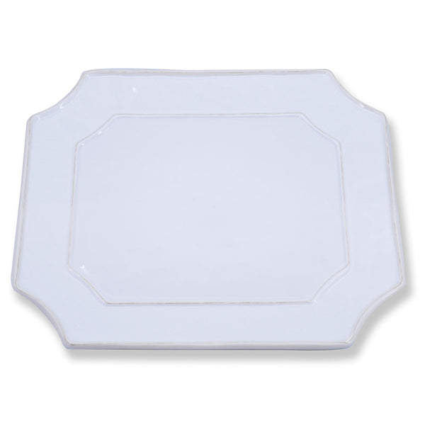 VIDA Charleston White Rectangular Platter  - Large